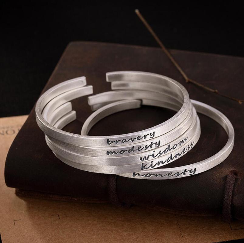 Sterling prata moda jóias fosca 4mm fina pulseira A2862 pulseira