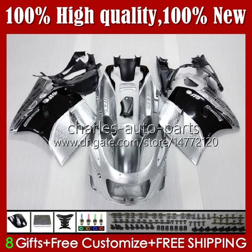 OEM-lichaam voor Kawasaki Ninja ZZR 1100 CC ZX11 R ZZR-1100 96 97 98 99 00 01 31HC.4 Glanzend zilver ZX-11R ZX11R ZX 11 R 11R ZX-11 R ZZR1100 1990 1991 1992 1993 1994 1995 Fairing Kit