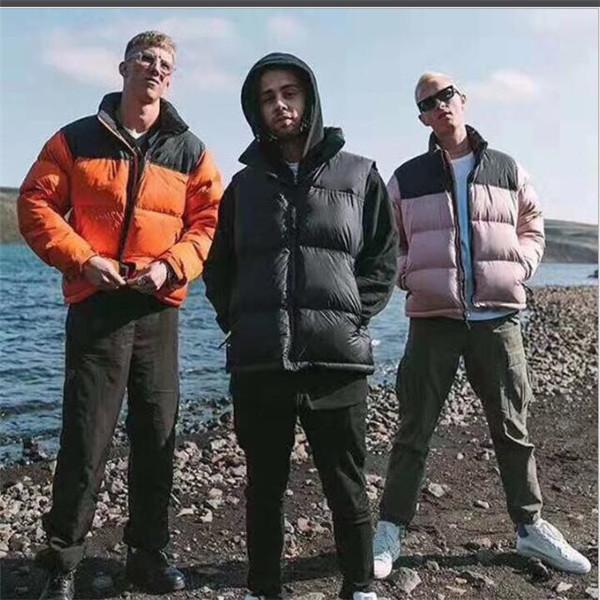 Giacca da uomo autunno e inverno cappotto down cappotto caldo giacca a vento giacche latters ricamo pattern zipper Tops CoA