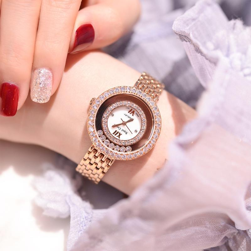 Wristwatches CLAW-SETTING LADY WOMEN'S WATCH JAPAN QUARTZ FASHION FINE STAINLESS STEEL BRACELET CLOCK GIRL BIRTHDAY GIFT ROYAL CROWN