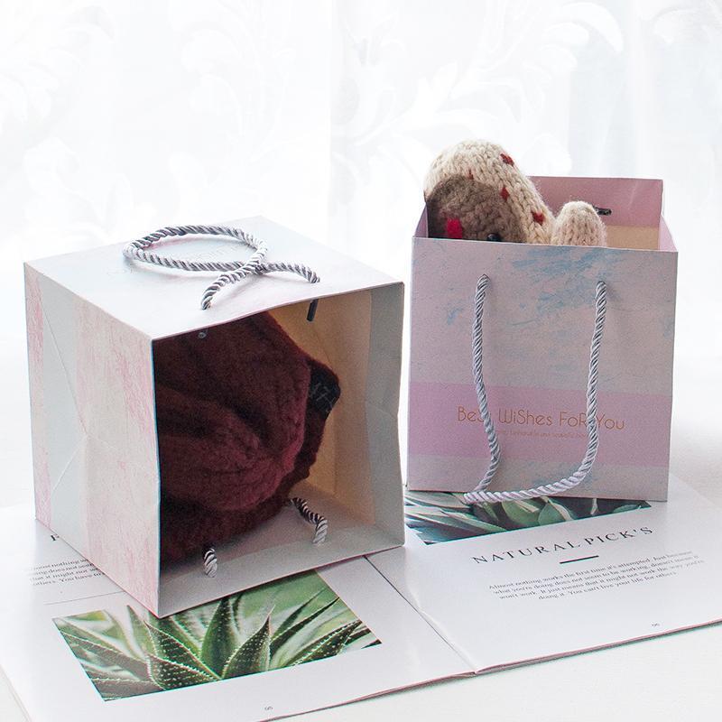 12 teile / los Ankommen Wünsche für Sie Marmor Hochzeit Geschenk Taschen Dekoration Bekleidungsgeschäft Kosmetik Verpackung Wrap