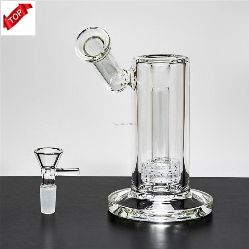 Top 2021 Thick Glass Bongs Hookahs 22.5cm Tall 14mm Joint Banger Water Pipes High Quality Made In Stock