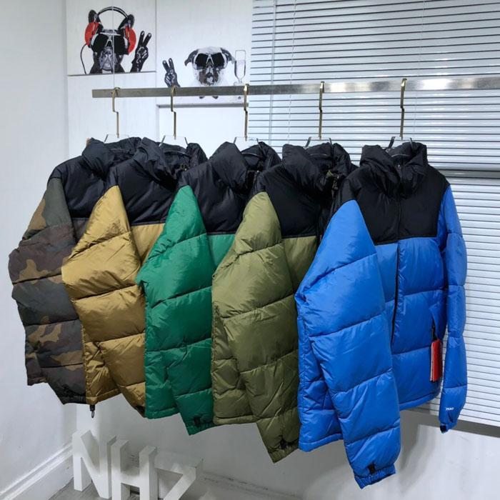 21ss 겨울 남성 탑 Qaultiy 다운 재킷 패션 자수 90 % 하얀 오리 다운스 작성 재킷 커플 두꺼운 따뜻한 남자와 여자 코트 블랙 파크