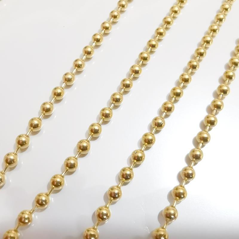 الكثير 5 قطع في السائبة stiantless الصلب الذهب الأزياء الخرز مطرز سلسلة قلادة 3 ملليمتر 18-32 '' المرأة رجل مجوهرات قلادة القلائد
