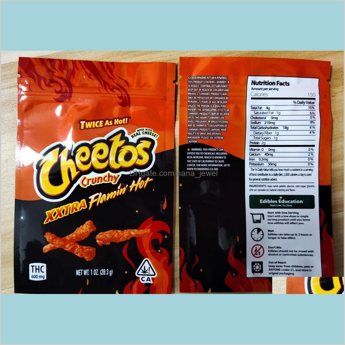 Embalagem Escola Escola Negócios Industrial Crunchy Me Mylar Embalagem 710 Edibles Pacote Gummy para Fritos Dorrit Queijo Sabor Chem