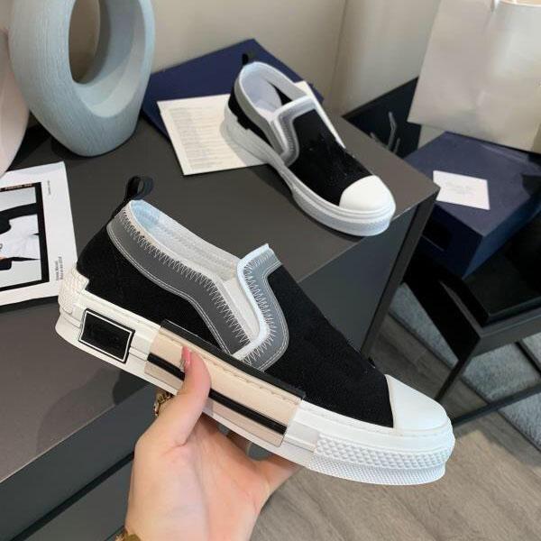Designer Schuhe Turnschuhe B23 Schrägstunde Niedrig Top Herren Sneaker B24 Technische Leinwand Leder Frauen Casual Shoe Hohe Qualität Luxurys Trainer