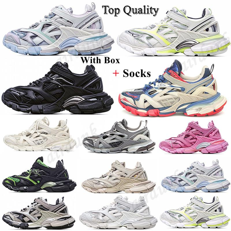 2020 Hombres de alta calidad Mujeres Track 4.0 2.0 3.0 Zapatos deportivos Triple S Black Compare Sneaker Green Fashion Trainers 18ss Similar Designer M0PT #