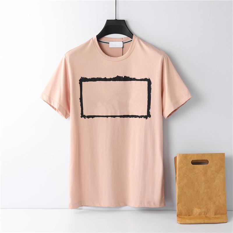Известный бренд высококачественный хлопок круглые шеи мужская футболка европейская и американская мода буквы печатных логотип летняя повседневная пара с короткими рукавами