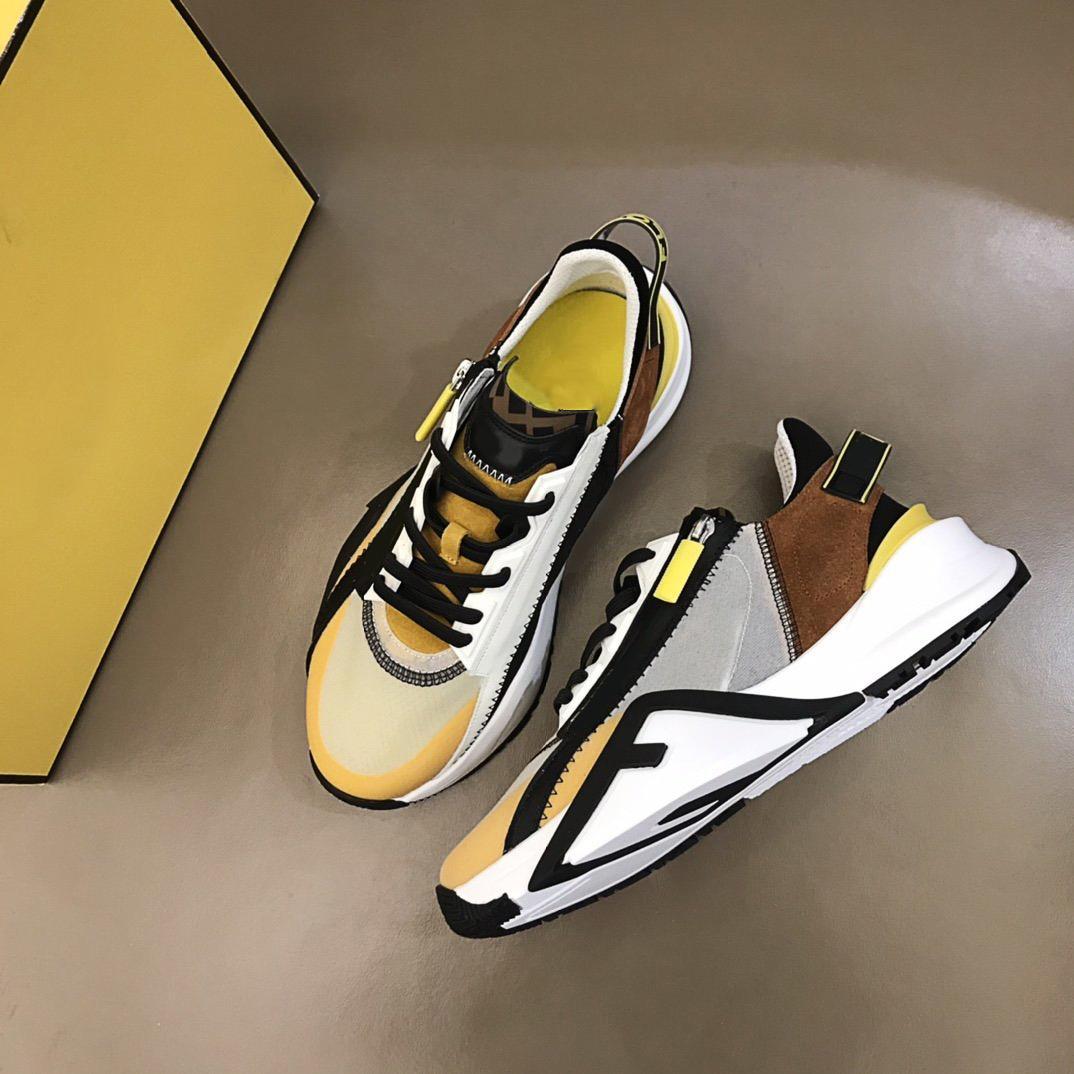En kaliteli ayakkabı lüks tasarımcı erkekler elastik sapanlar, yan fermuarlar ile spor ayakkabı giymek
