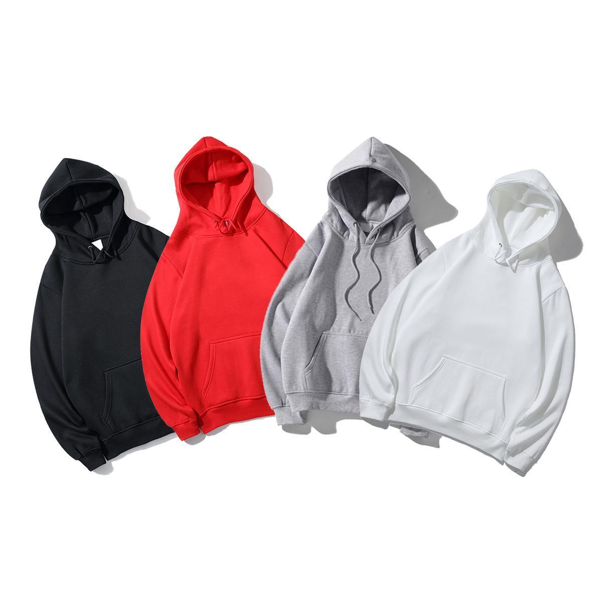 Erkek Hoodie Mektubu Kırmızı Nakış Tasarımcısı Rahat Avrupa ve Amerikan Moda Trend Sonbahar Kış Gevşek Sıcak Giysiler Polar Bayanlar Kapüşonlu Kazak S2021
