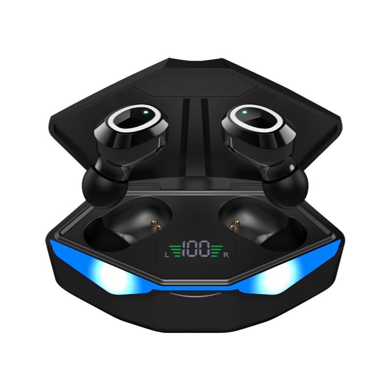 M22 TWS Fones de ouvido Redução de ruído Gaming Headset sem fio Baixo Atraso Auscultadores Fones de ouvido Estéreo em Ouvido para telefones