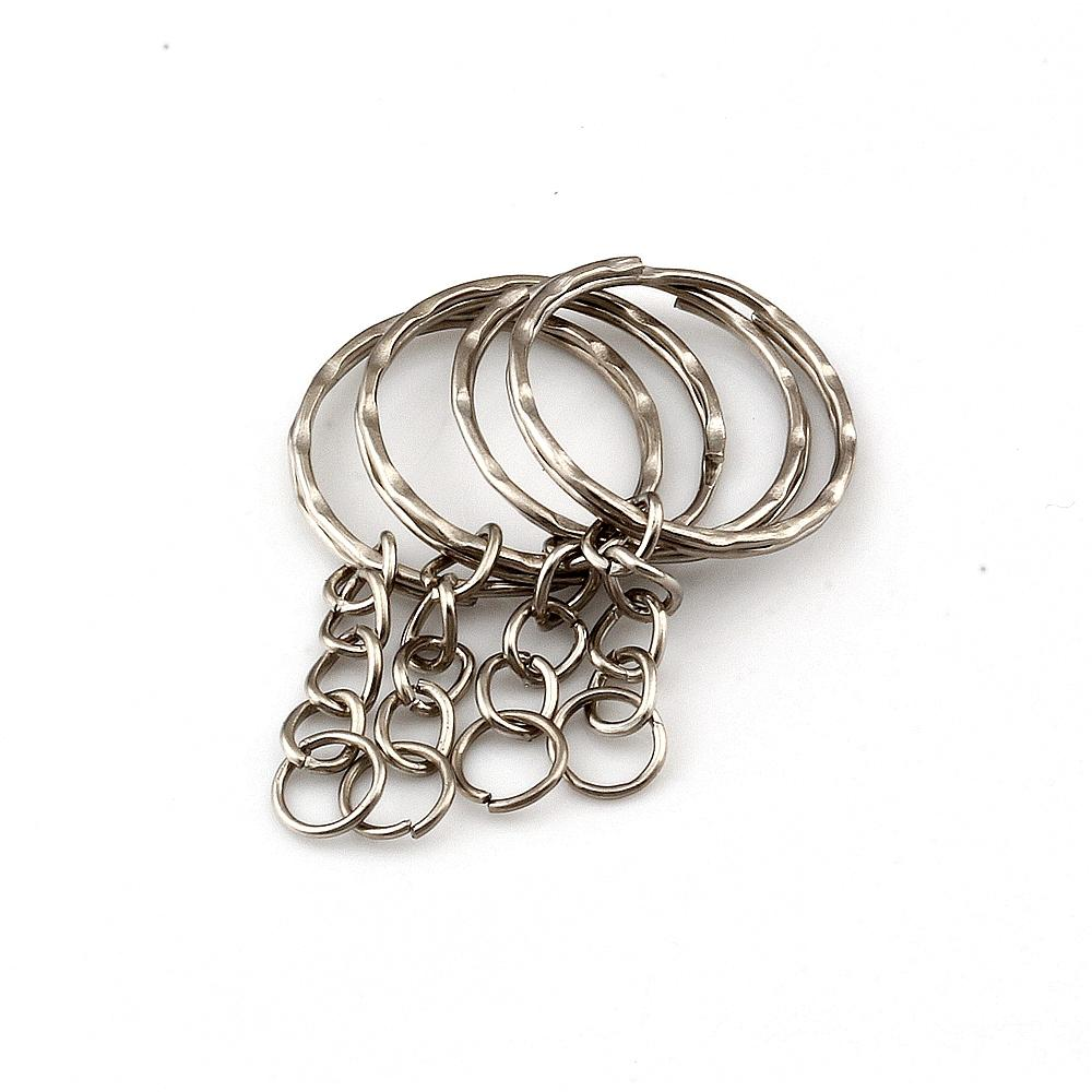 300pcs /lots Antique Silver Alloy Keychain For Jewelry Making Car Key Ring DIY Accessories