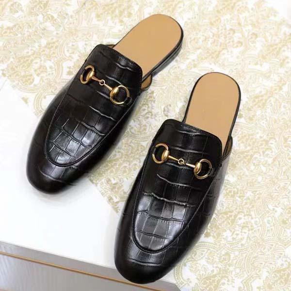 2021 Donne di alta qualità Scarpe casual in pietra Pietra Growhide Body Burish Classic Designer Pantofole Bronzo Chiusura Bronzo Appartamenti in pelle taglia 35-41 con scatola