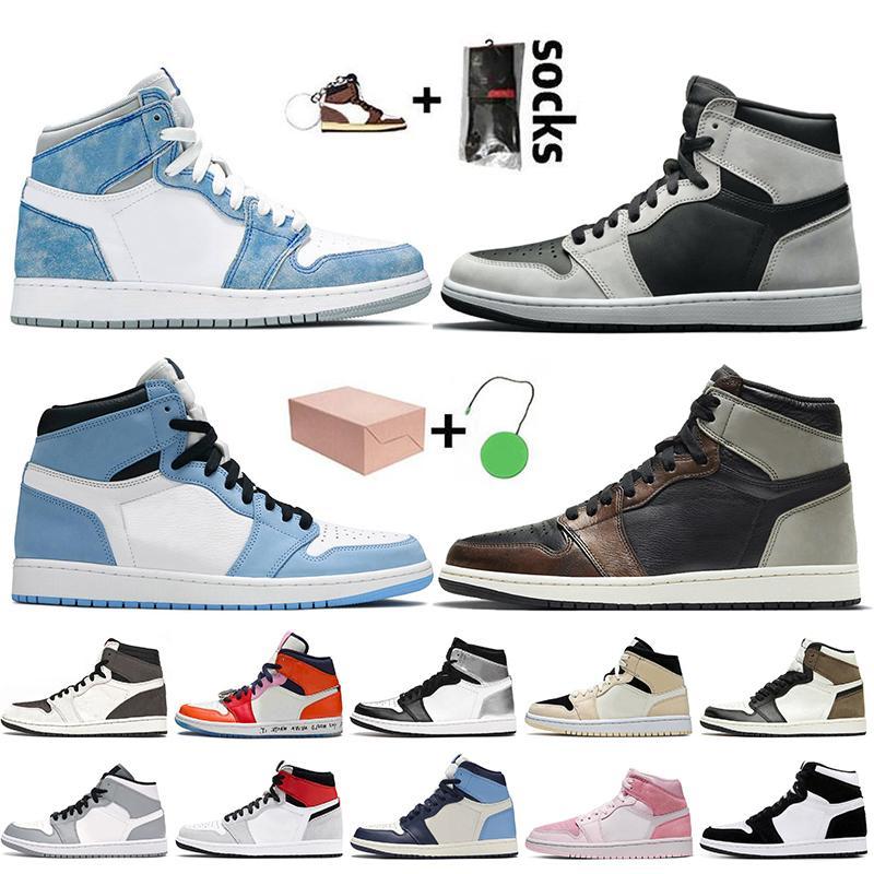 nike air jordan 1 off white retro 1 travis scott Kutu Jumpman ile 1 1s Basketbol Ayakkabıları 2021 Kadın Erkek Yüksek OG Hiper Kraliyet Retro Travis Sneaker Offs