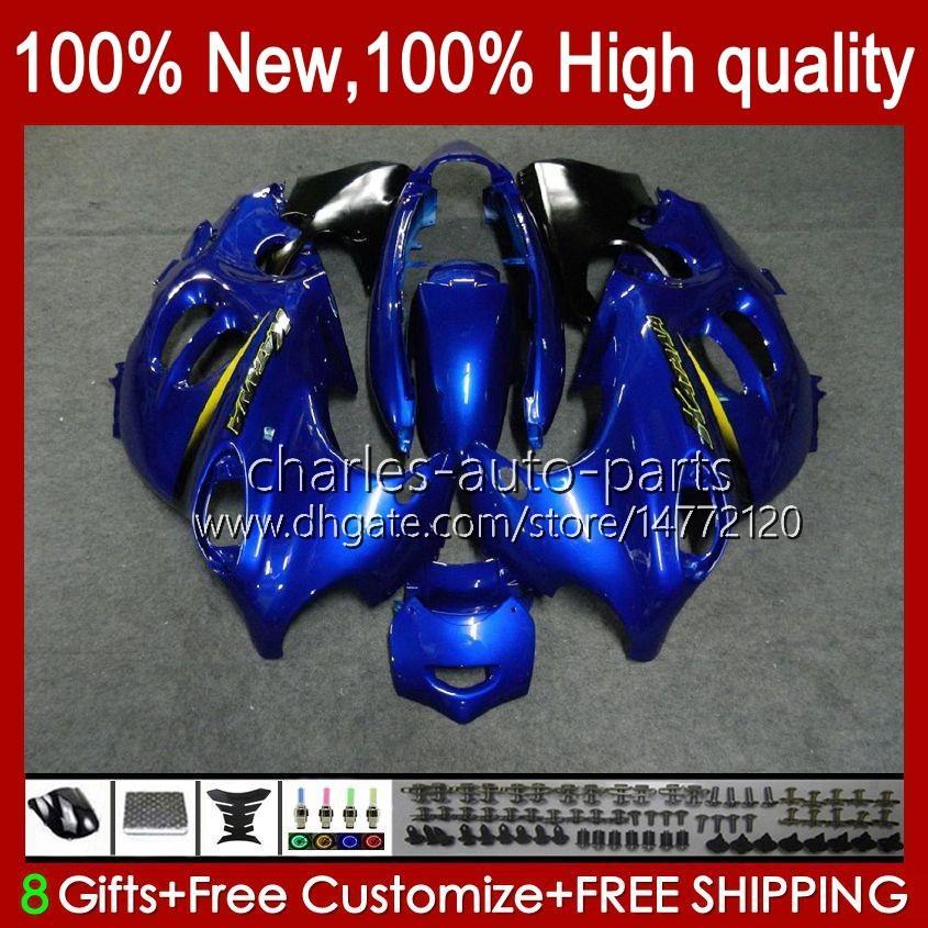 Corpo para Suzuki Katana GSX600F GSXF600 GSXF750 GSXF 600 750 cc 98 99 00 01 02 29No.23 600cc 750cc GSX750F GSXF-600 GSXF-750 1998 1999 2000 2001 2002 Blue Metal