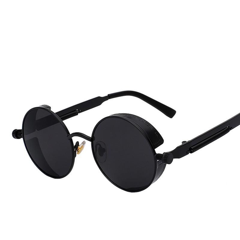 Vintage Kadınlar Steampunk Güneş Gözlüğü Marka Tasarım Yuvarlak Güneş Gözlüğü UV400