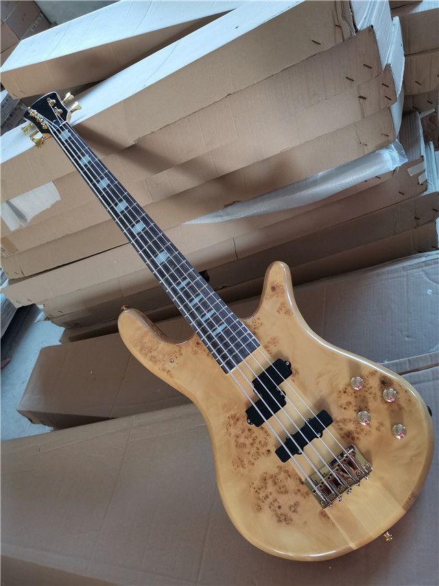 5 Strings 24 Frets Elektrik Bas Gitar Gülağacı Klavye Boyun-Gövde ile, Bas stokta ve hemen sevk edilebilir,