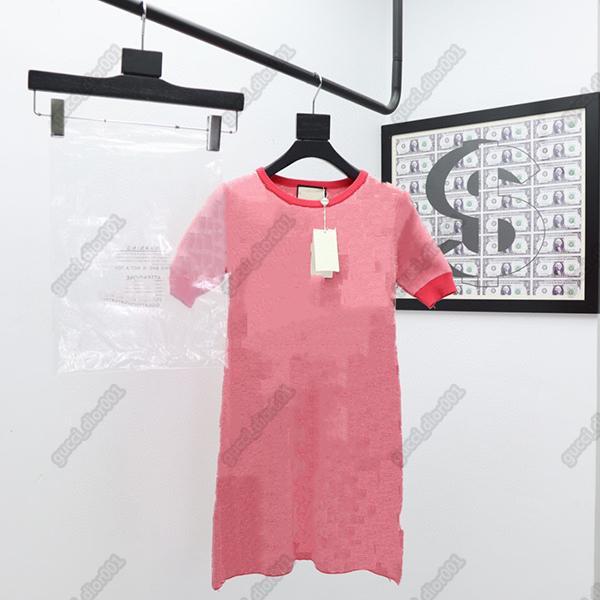 Designer di lusso Topsgg womens abiti da donna di alta qualità moda alla moda marca in anticipo in autunno serie maglia slim abito, girocollo elegante abito da donna