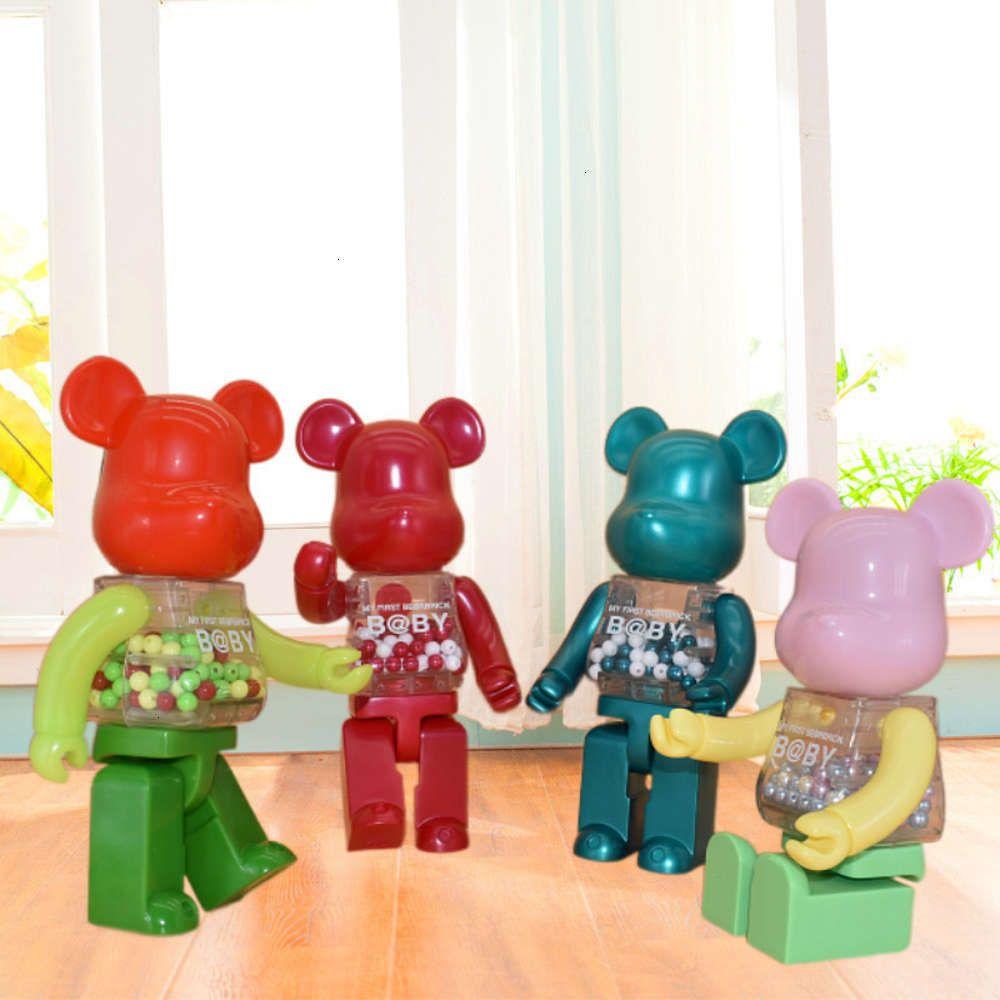 Qianqiu palhaço rick28cm momo urso violento maré jogar handmade boneca mobiliário doméstico