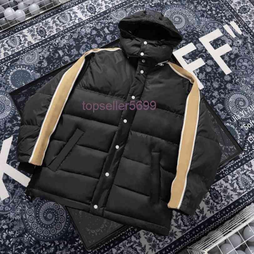 남성 패션 유럽 디자이너 다운 코트 겨울 남성 재킷 후드 여자 의류 파카 반사와 인쇄 된 긴 소매 편지