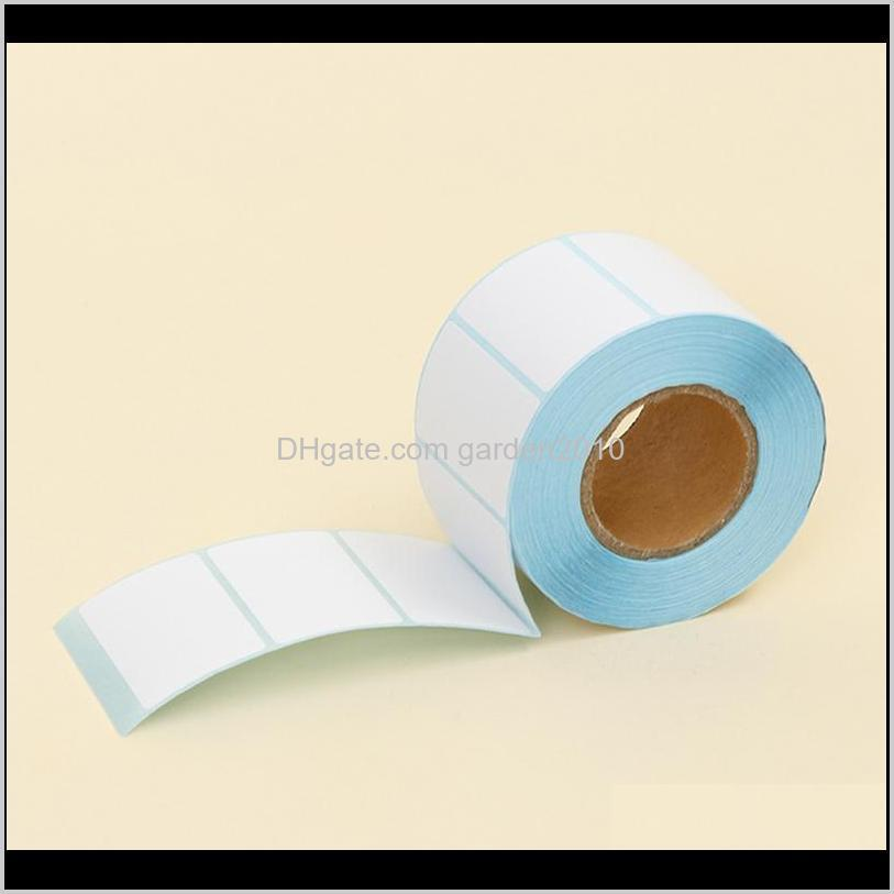 Labels & Tags Adhesive Thermal Sticker Paper Blank Label Direct Print Size 50X30Mm 800Pcs/Set Qakqw Uzwao