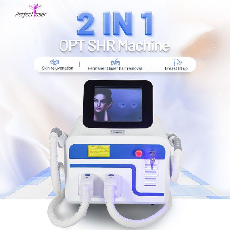 Opt SHR Удаление волос Удаление Acne Лечение Уверенность Лазерная Кожа Омолаживающая система E Light IPL Машина 2 года Гарантия