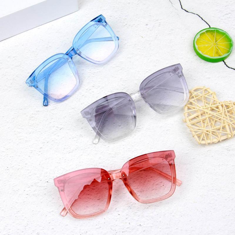 자외선 방지 선글라스 그라데이션 컬러 안경 광장 조명 색상 렌즈 패션 아기 아기 10 5SR Y2