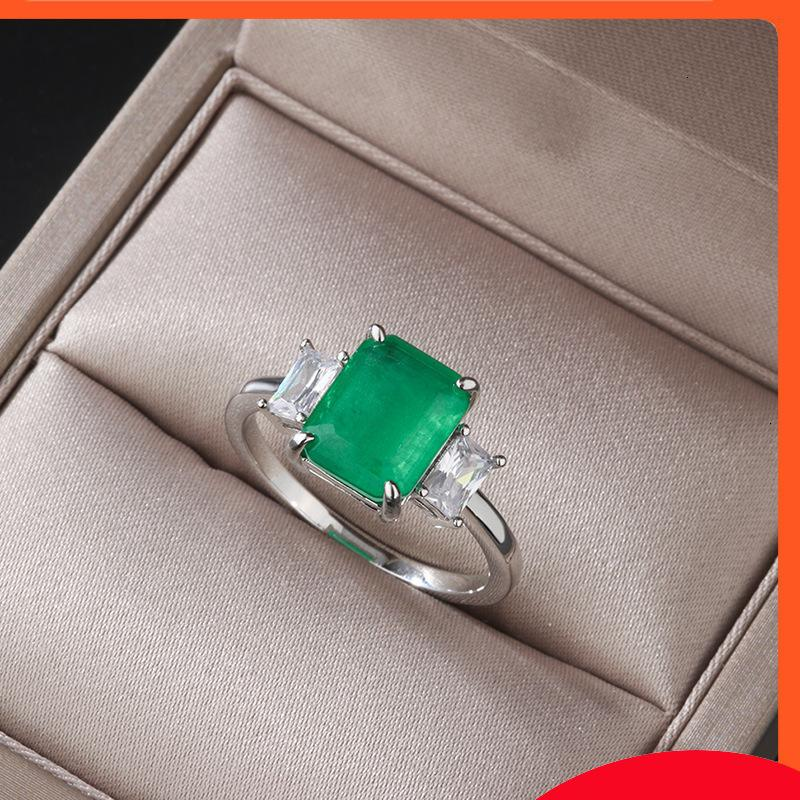 CAIBAO Imitazione popolare Smeraldo 8 * 10 lunghi gioielli anello femminile femminile