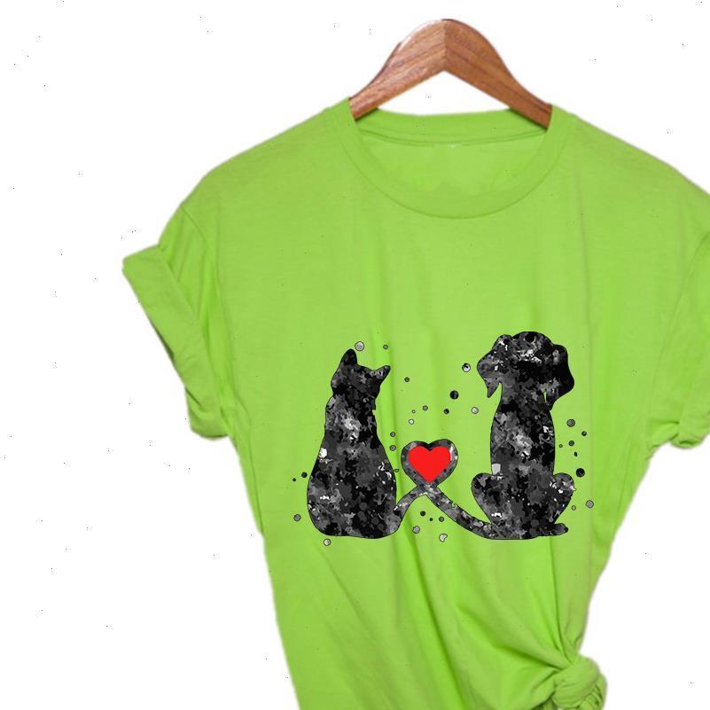 Atmungsaktive hochwertige Hunde-Frauen-T-Shirt und Katzenfreundschaft Harajuku mit schönen Retro-Grafik