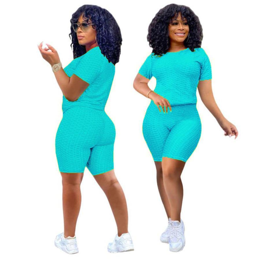 SY21001 MUJERES NUEVO PIEAPLE Paño Deportes Ocio Pantalones de yoga Dos piezas Set Super Elastic Kfpl