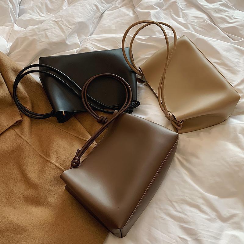 Leder 2021 Einfache Große Tasche Eimer PU Haupttaschen Crossbody Schulter Tägliche Einkaufen de Frau à new sac casual sehrmed taschen luxe icrwf