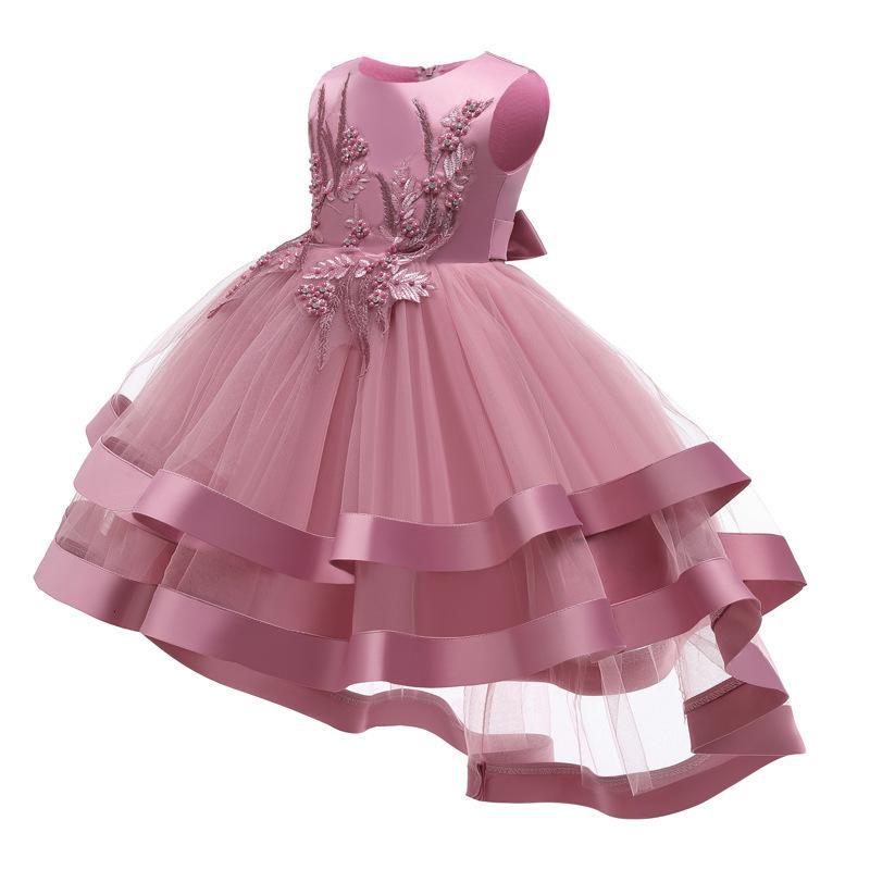 Mädchen Prinzessin 2021 Neue Super Fremd-Stil Kinderaufführung Poncho Weste Kleid
