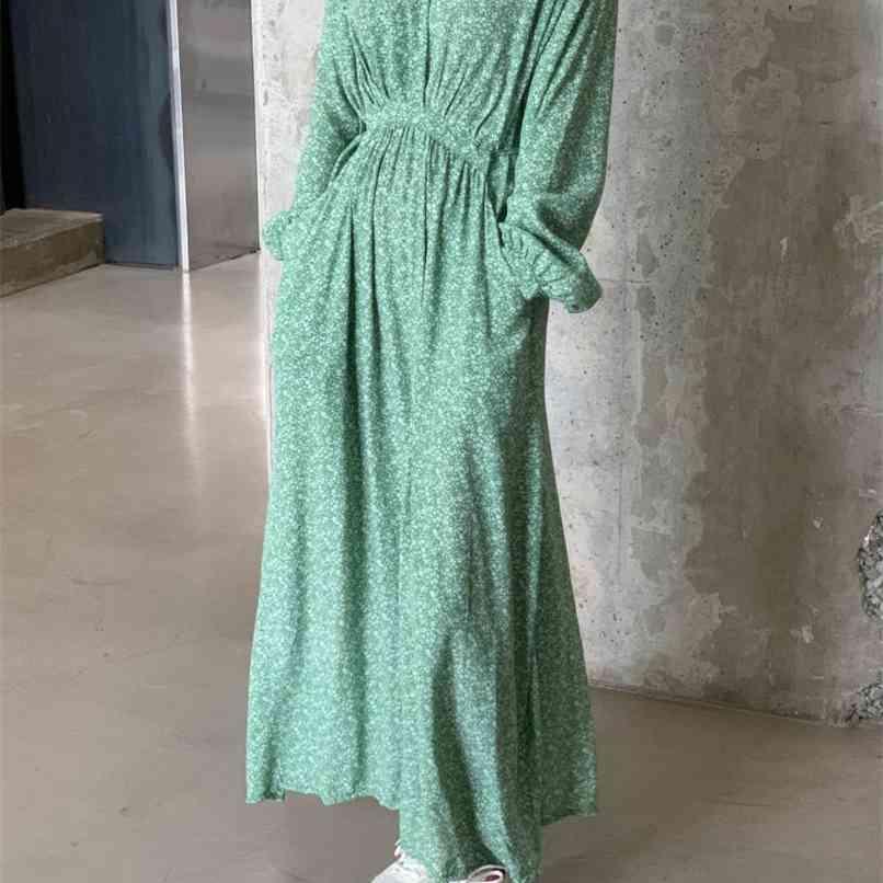 Женские летние шифоновые богемные сексуальные V-шеи свободные цветочные печать платье повседневные пляжные дамы Sundress 210419