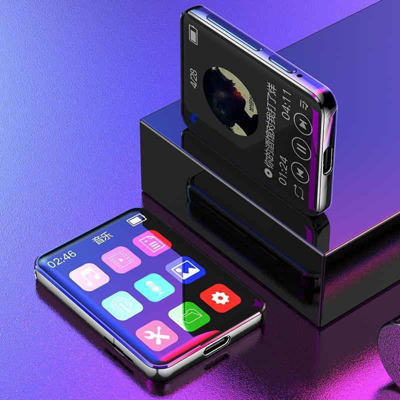 MP4 jogadores Yescool Bluetooth MP3 Player Tela de Toque Lossless Hifi Esporte Walkman com Speaker FM Radio Recorder Música Portátil