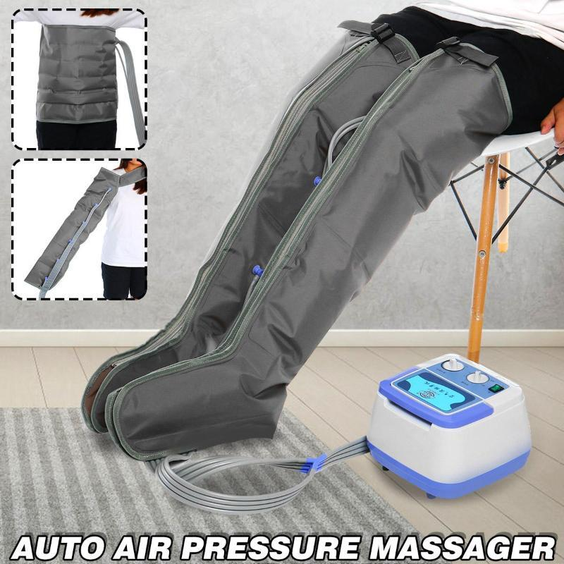 Air Chambers Compression Massager Vibration Therapy Physiotherapy Auto Cycle Leg Arm Waist Pneumatic Pressure Massage Electric Massagers