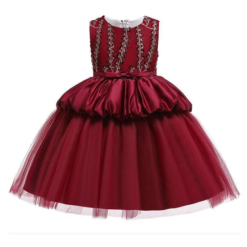 Summer Evening Ball Gown Flower Kids Dresses For Girls Children Wedding Dress Girl Elegant Princess Girl's