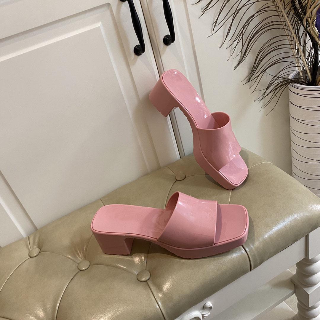 Gucci sandals 2021 Newest Women Sandalias con talones de moda Lujos de lujo Designers Slippers Lady Designer Slipper Sandal Sandal Tacones altos Toboganes