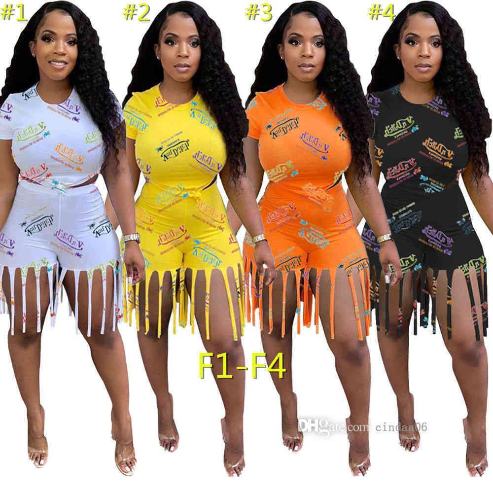 Frauen Trainingsanzüge Simple Pure Color O Neck Kurzarm Bro und zwei Teile Set Casual Lady Mode Sportswear Kleidung