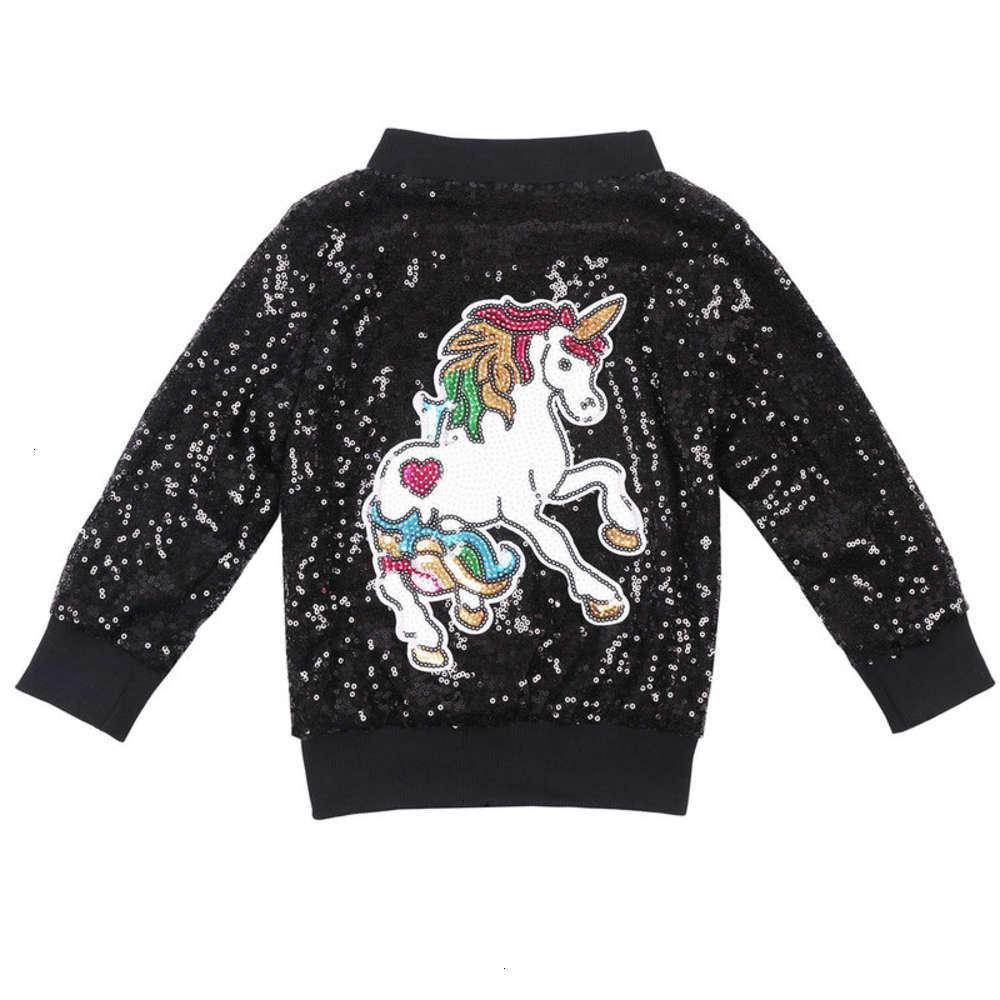 Толстовки для толстовок Физическая съемка и длинные блестки осень Hoodls Sve Spring ET детская одежда девочка Unicorn Windbreak