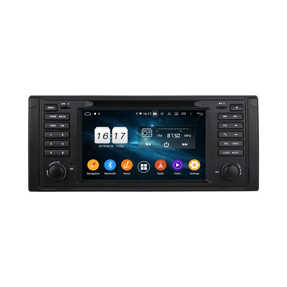"4GB + 128GB PX6 7 ""Android 10 자동차 DVD 플레이어 BMW E39 1995-2002 DSP 스테레오 라디오 GPS 네비게이션 WiFi Bluetooth 5.0 쉬운 연결"