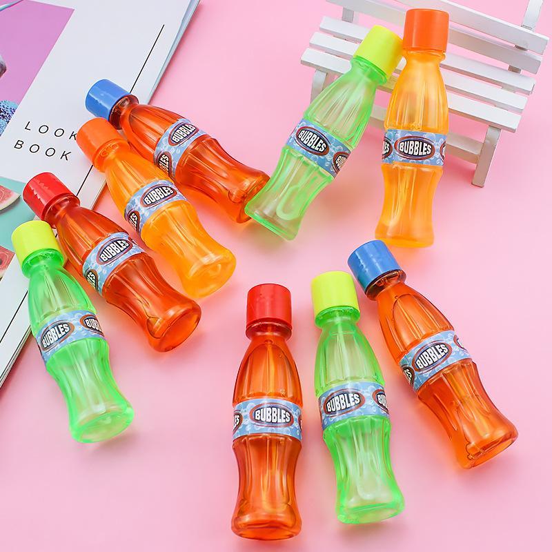 Bebida más vendida de verano embotellada 24 juguetes de palo de burbujas para niños en una caja de cuadrado