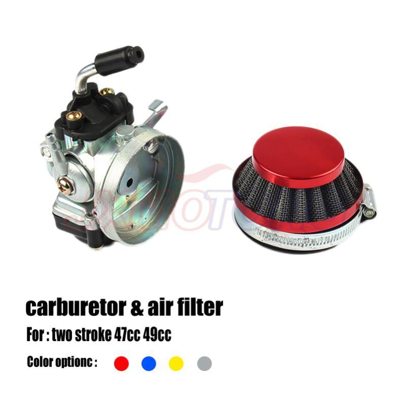 Carb Carburetor With Air Filter Red / Blue /gold Silver For Mini Motor 49cc 50cc 60cc 66cc 80cc 2-Stroke Motorized Bike Motorcycle Fuel Syst