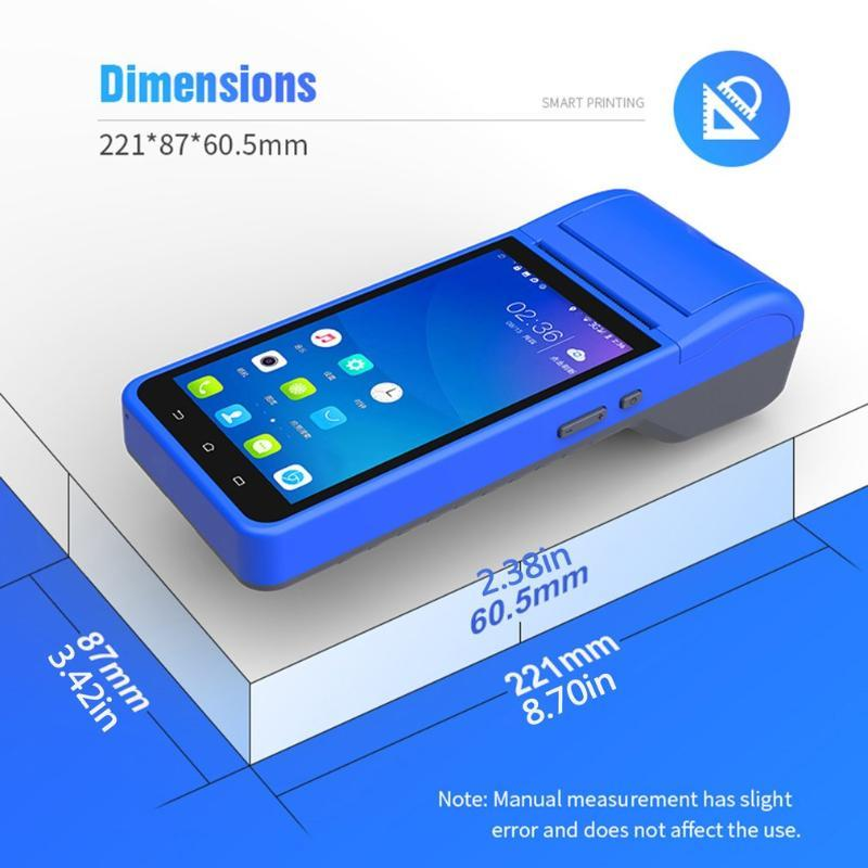 Android 8.1.0 3G WiFi PDA Terminal Handheld الذكية اللاسلكية 58MM طابعة Bletooththermal دعم 1D 2D الطابعات المسح الباركود