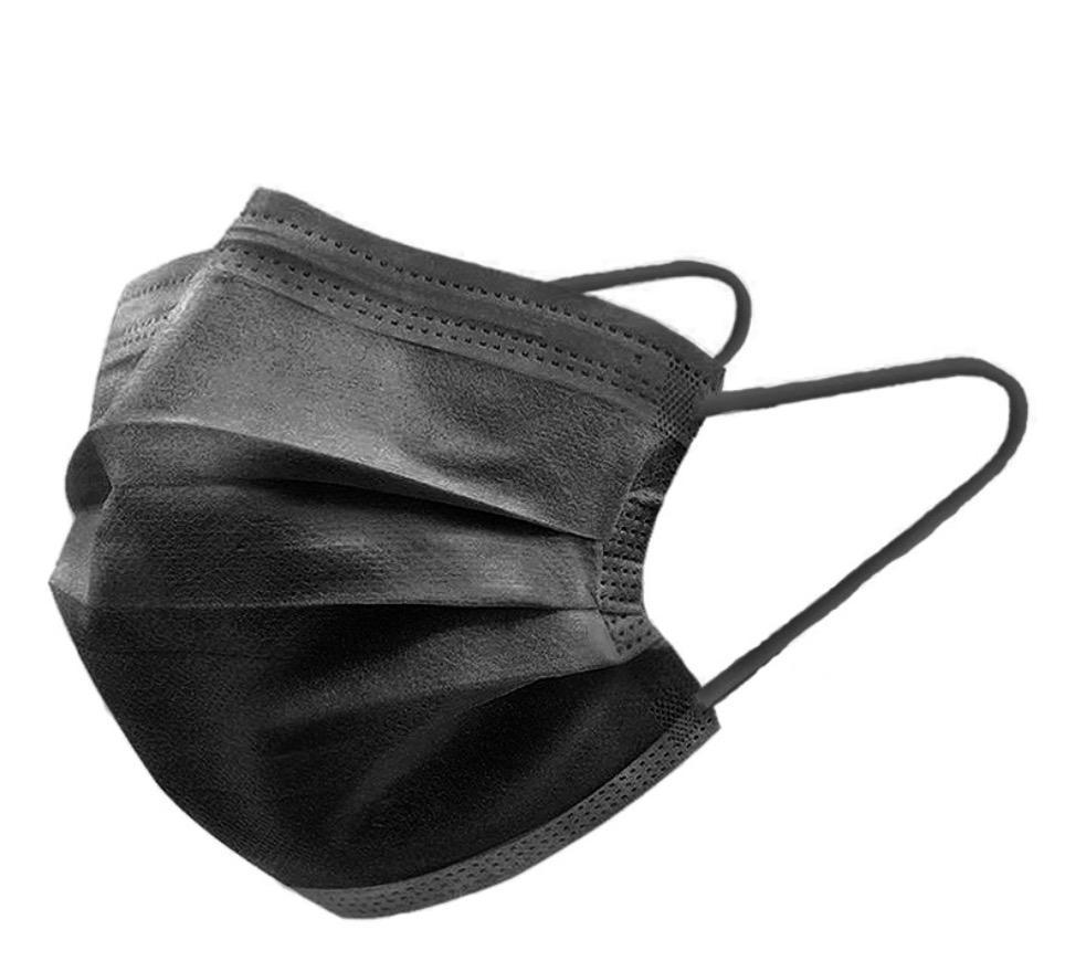 패션 블랙 성인 개별 50pcs / 팩 디자이너 페이스 마스크 3 레이어 일회용 보호 마스카 러 주식 DHL 선박 12 시간
