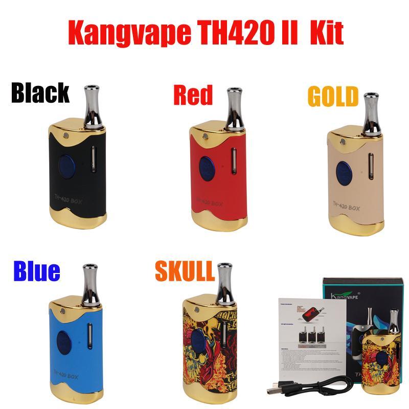 Оригинальный Kangvape TH-420 II стартовый комплект 650 мАч догревов VV аккумулятор с 0,5 мл керамический картридж Coil TH420 V2 VAPE MOD 510 PEN подлинный