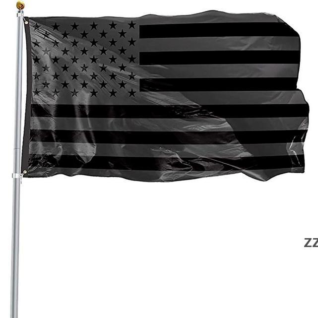 3x5ft Black American Bandera Poliéster No Brima TRIMESTE USA USA PROTECCIÓN HISTÓRICANA BANDERA BANDER DE PANTALLA DE PLAZAJE INTERIOR INTERIOR HWA8242