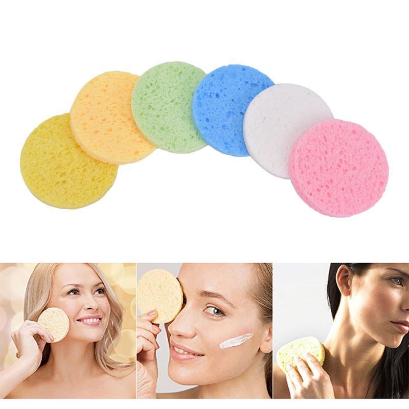 Spugne, applicatori in cotone 10pcs morbido lavaggio viso puff detergente comodo spugna spa exfoliante cure per la cura del viso strumento di pulizia della compressione