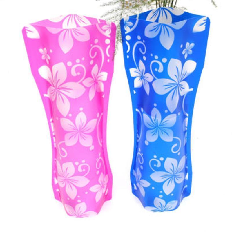 50pcs Creative Clear Clear PVC Vases Plastique Sac à eau Eco-convivial Vase fleur pliable réutilisable Accueil Mariage Partie de mariage Décoration Vases de fleurs 1355