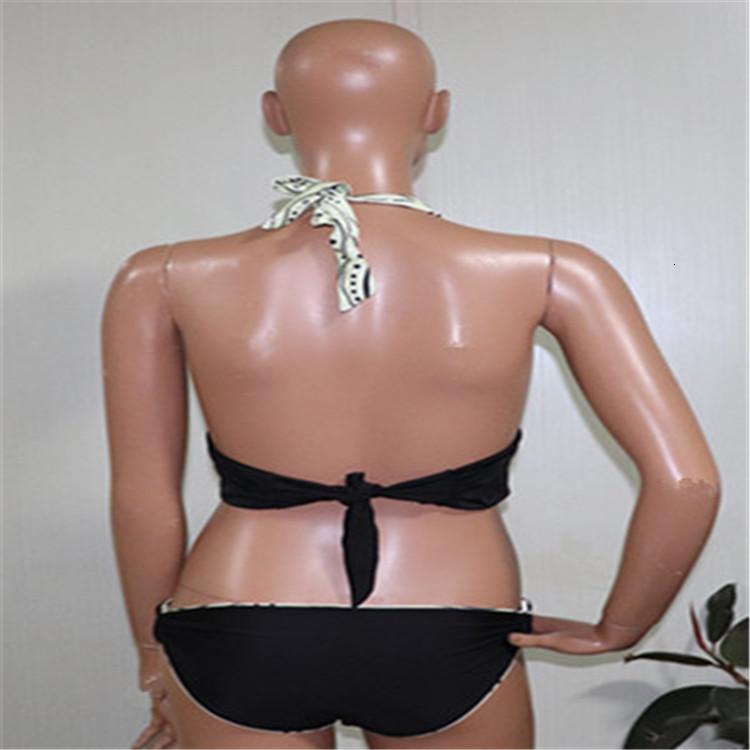 2019 Nuevo Bikini impreso Bikini Split traje de baño