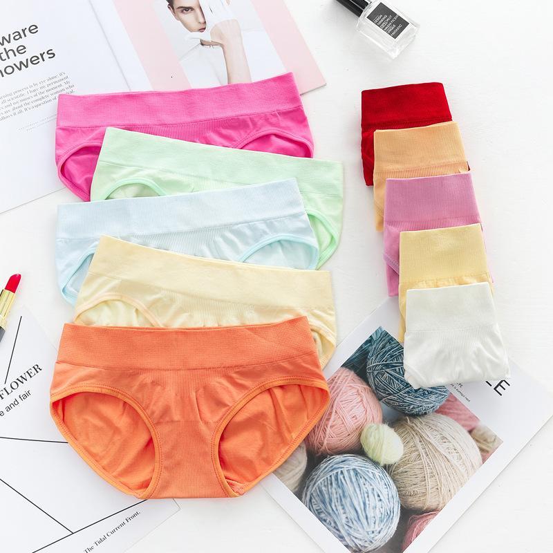 Calcinha reta meninas 'calças semanais de algodão cor desenhos animados respirável feminino briefs baixo preço